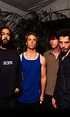 Soundgarden (L-R: Kim Thayil, Matt Cameron, Ben Shepherd, Chris cornell) photographed backstage at the Horden Pavillion in Sydney Australia - 30 Jan 1997.  Photo by: Tony Mott / IconicPix