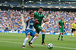 Jurado (L) and Rico (R) in action during La Liga Game between RCD Espanyol agaisnt Leganes at RCDE Stadium