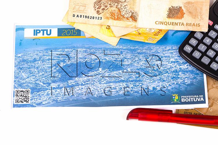 Carnê de IPTU da cidade de Boituva, 03/2015.