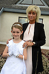 09/05/2015 - Mornington Communion – Kylah Keoghan and her mother Terri. Picture: www.newsfile.ie