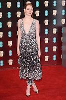 Emma Stone<br /> at the 2017 BAFTA Film Awards held at The Royal Albert Hall, London.<br /> <br /> <br /> &copy;Ash Knotek  D3225  12/02/2017