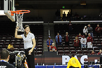March 14, 2010.  _______ cuts down the net after the Stanford Cardinal beat the UCLA Bruins to win the 2010 Pac-10 Tournament.