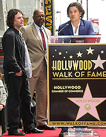 HOLLYWOOD, LOS ANGELES, CA, USA - APRIL 02: David Leveaux, Forest Whitaker, Orlando Bloom at Orlando Bloom's star ceremony on the Hollywood Walk of Fame (2,521st star) in the category of Motion Pictures held at 6927 Hollywood Boulevard (next to TCL Chinese Theatre and Madame Tussauds Hollywood) on April 2, 2014 in Hollywood, Los Angeles, California, United States. (Photo by Celebrity Monitor)