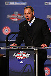 15 January 2009: MLS Executive Todd Durbin announces a trade during the draft. The 2009 Major League Soccer SuperDraft was held at the Convention Center in St. Louis, Missouri in conjuction with the National Soccer Coaches Association of America's annual convention.