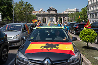 MADRID, SPAIN - MAY 23: View of a car which participates in the demonstration organized by VOX, Spanish far-right party and third biggest party in the Parliament, to demand the resign of the national Government on 23 May 2020, in Madrid, Spain. This protest, which should be participated from the car, occurs in the middle of deescalation plans of covid 19 and the state of emergency remains active due to the coronavirus. (Photo by Sergio Belena / VIEWpress).