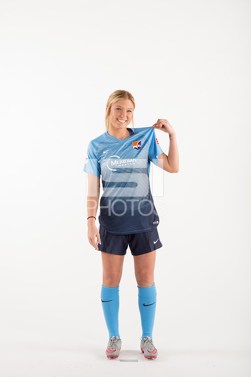 Belmar, NJ - Wednesday March 29, 2017: Cassidy Benintente poses for photos at the Sky Blue FC team photo day.