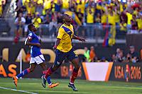 Action photo during the match Ecuador vs Haiti at MetLife Stadium Copa America Centenario 2016. ---Foto  de accion durante el partido Ecuador vs Haiti, En el Estadio MetLife Partido Correspondiante al Grupo - B -  de la Copa America Centenario USA 2016, en la foto: festejo de gol de Jaime Ayovi<br /> <br /> -- 12/06/2016/MEXSPORT/Javier Ramirez.