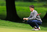 Dermot McElroy (IRL) on the 1st green during Round 1 of the Bridgestone Challenge 2017 at the Luton Hoo Hotel Golf &amp; Spa, Luton, Bedfordshire, England. 07/09/2017<br /> Picture: Golffile | Thos Caffrey<br /> <br /> <br /> All photo usage must carry mandatory copyright credit     (&copy; Golffile | Thos Caffrey)