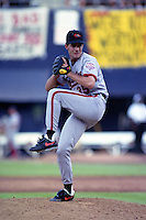 Baltimore Orioles pitcher Mike Mussina (35) during the Major League Baseball All-Star Game at Jack Murphy Stadium  in San Diego, California.  (MJA/Four Seam Images)