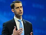 Washington, DC - March 5, 2018: U.S. Senator Tom Cotton speaks during the 2018 American Israel Public Affairs Committee (AIPAC) Public Policy Conference at the Washington Convention Center March 5, 2018.  (Photo by Don Baxter/Media Images International)