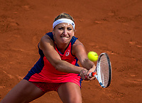 Paris, France, 4 June, 2017, Tennis, French Open, Roland Garros, Timea Bacsinszky (SUI)<br /> Photo: Henk Koster/tennisimages.com