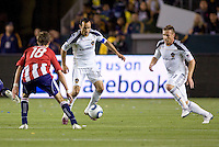 LA Galaxy forward Landon Donovan moves with the ball. The LA Galaxy defeated Chivas USA 2-0 during the Super Clasico at Home Depot Center stadium in Carson, California Thursday evening April 1, 2010.  .