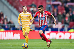 Angel Correa of Atletico de Madrid in action during the La Liga 2017-18 match between Atletico de Madrid and Girona FC at Wanda Metropolitano on 20 January 2018 in Madrid, Spain. Photo by Diego Gonzalez / Power Sport Images