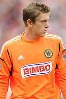 Philadelphia Union goalkeeper Zac MacMath (18) D.C. United tied The Philadelphia Union 1-1 at RFK Stadium, Saturday August 19, 2012.