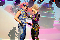 LONDON, ENGLAND - JUNE 3: Robin Pors and Denise Post-Van Rijswijk of 'Vengaboys' performing at Mighty Hoopla at Brockwell Park, Brixton on June 3, 2018 in London<br /> CAP/MAR<br /> &copy;MAR/Capital Pictures