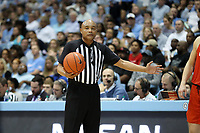 CHAPEL HILL, NC - JANUARY 11: Official Bill Covington during a game between Clemson and North Carolina at Dean E. Smith Center on January 11, 2020 in Chapel Hill, North Carolina.