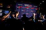 GOP presidential candidate Newt Gingrich speaks with reporters at a campaign event at Great Basin Brewing Company in Reno, Nevada, February 1, 2012.