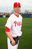 February 24, 2010:  Pitcher JA (J.A.) Happ (43) of the Philadelphia Phillies poses during photo day at Bright House Field in Clearwater, FL.  Photo By Mike Janes/Four Seam Images