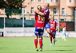 Stockholm 2015-07-11 Fotboll Damallsvenskan Hammarby IF DFF - Vittsj&ouml; GIK :  <br /> Vittsj&ouml;s Linda S&auml;llstr&ouml;m friar sitt 0-2 m&aring;l med Johanna Ejdelind under matchen mellan Hammarby IF DFF och Vittsj&ouml; GIK <br /> (Foto: Kenta J&ouml;nsson) Nyckelord:  Fotboll Damallsvenskan Dam Damer Zinkensdamms IP Zinkensdamm Zinken Hammarby HIF Bajen Vittsj&ouml; GIK jubel gl&auml;dje lycka glad happy