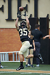Wake Forest Demon Deacons wide receiver Willy Bemiss (35) warms-up prior to the game against the Rice Owls at BB&T Field on September 29, 2018 in Winston-Salem, North Carolina. The Demon Deacons defeated the Owls 56-24. (Brian Westerholt/Sports On Film)
