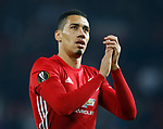 Chris Smalling of Manchester United during the Europa League Semi Final 2nd Leg match at Old Trafford Stadium, Manchester. Picture date: May 11th 2017. Pic credit should read: Simon Bellis/Sportimage