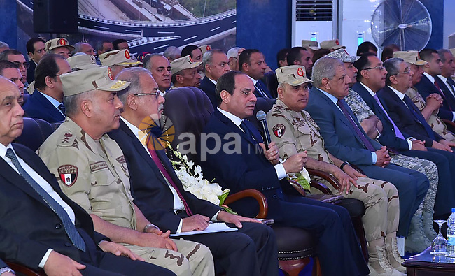 Egyptian President Abdel Fattah al-Sisi visits the Qena Province, some 650 km south of Cairo, Egypt, on May 14, 2017. Photo by Egyptian President Office