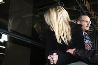 SAO PAULO, SP, 25 DE JUNHO DE 2013 -  CASO BIANCA CONSOLI - A irmã de Bianca, Daiane Consoli sai do julgamento do motoboy Sandro Dota, no Fórum Criminal da Barra Funda em São Paulo, SP, nesta terça-feira (23). Ele é acusado de matar a estudante Bianca Consoli, 19 anos, em setembro de 2011.FOTO: MAURICIO CAMARGO / BRAZIL PHOTO PRESS