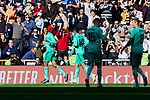 Raphael Varane of Real Madrid celebrates goal during La Liga match between Real Madrid and RCD Espanyol at Santiago Bernabeu Stadium in Madrid, Spain. December 07, 2019. (ALTERPHOTOS/A. Perez Meca)