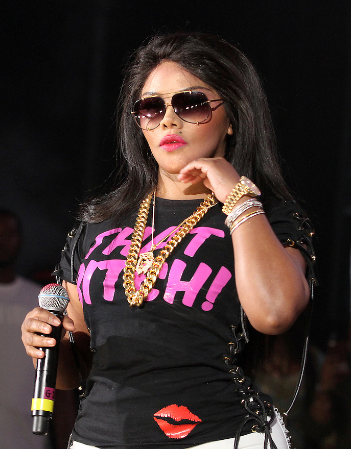 Lil' Kim is seen performing at Hot 97 Summer Jam at MetLife Stadium on Sunday, June 07, 2015, in East Rutherford, New Jersey. (Photo by Donald Traill/Invision/AP)