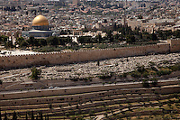 Dome of the Rock and Temple Mount as seen from Mount of Olives