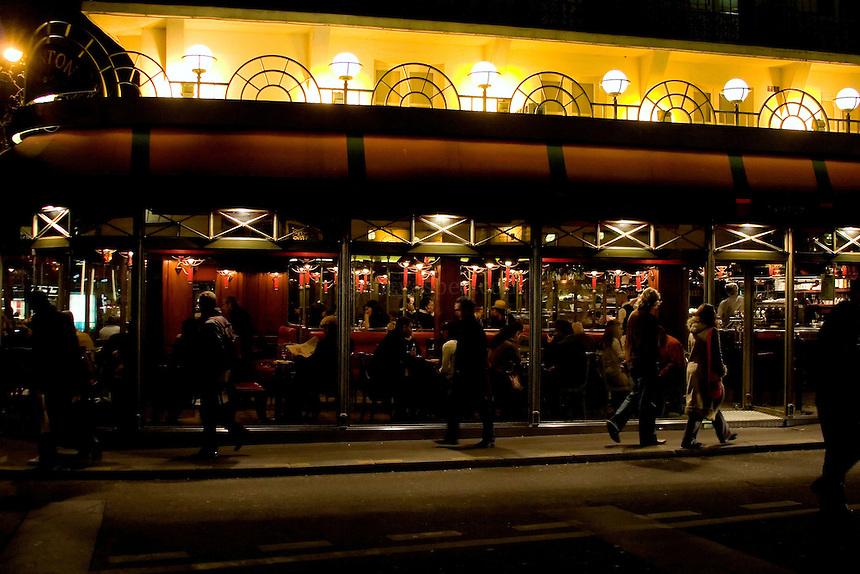 Cafe at Odeon at night.