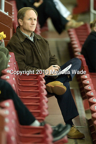 Brian Durocher (BU - Head Coach) attended part of the game. - The Boston College Eagles defeated the visiting Harvard University Crimson 6-2 on Sunday, December 5, 2010, at Conte Forum in Chestnut Hill, Massachusetts.