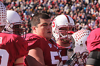 EL PASO, TX - DECEMBER 31:  Jim Plunkett served as the honorary captain during Stanford's 31-27 loss to the Oklahoma Sooners in the Sun Bowl on December 31, 2009 in El Paso, Texas.EL PASO, TX - DECEMBER 31:  David DeCastro of the Stanford Cardinal during Stanford's 31-27 loss to the Oklahoma Sooners in the Sun Bowl on December 31, 2009 in El Paso, Texas.