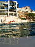 A day at the Bondi Icebergs swimming club, Bondi Beach, Sydney in Australia.