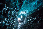 """Pictured: These images chronicle the dramatic transformation of the naturally-formed ice caves in the Vatnajokull glacier, Iceland. <br /> <br /> Photographer Peter Svoboda travelled to the ice caves over a number of years to capture the extraordinary changes that take place. <br /> <br /> The images are taken around the Jokulsarlon glacial lake and show both caves that no longer exist as well as those that have completely transformed. <br /> <br /> Peter Svoboda said """"My first visit to the ice caves was in March 2016 and this particular cave does not exist anymore. The temperature was around 4 degrees Celsius and it was difficultto take pictures as the ice ceilings were melting and drops of the water were falling on my lens."""" <br /> <br /> """"When I retuned in 2017 I was shocked to learn that the particular 'room' in the cave had collapsed entirely. The images from 2017 show the same ice cave as that from 2018, but begin to highlight the huge difference between its shape when you compare them.<br /> <br /> """"I returned with my guide to the exact cave space in 2018, and I was told that the glacier front retreated more than 70 meters during the summer season. The ice cave rooms were completely different despite we were in the same one."""" <br /> <br /> The ceilings in the ice caves were up to 20 meters high, with the temperature in the spaces sub zero on Peter Svoboda's subsequent visits. <br /> <br /> Please byline: Peter Svoboda/Solent News<br /> <br /> © Peter Svoboda/Solent News & Photo Agency<br /> UK +44 (0) 2380 458800"""