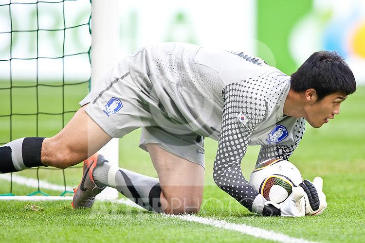 03.06.2010, Tivoli, Innsbruck, AUT, FIFA Worldcup Vorbereitung, Testspiel Spanien (ESP) vs Sued Korea (KOR), im Bild Jung Sung-ryong ( KOR #18 ).  Foto: nph /  J. Groder