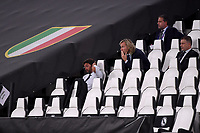 Andrea Agnelli, Pavel Nedved and Fabio Paratici during the Champions League round of 16 second leg football match between Juventus FC and Lyon at Juventus stadium in Turin (Italy), August 7th, 2020. <br /> Photo Federico Tardito / Insidefoto