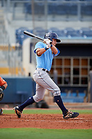 Tampa Bay Rays Ford Proctor (35) follows through on a swing during a Florida Instructional League game against the Baltimore Orioles on October 1, 2018 at the Charlotte Sports Park in Port Charlotte, Florida.  (Mike Janes/Four Seam Images)