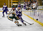 2 February 2020: Holy Cross Crusader Forward Carlie Magier, a Sophomore from Allen Park, MI, in first period action against the University of Vermont Catamounts at Gutterson Fieldhouse in Burlington, Vermont. The Lady Cats rallied in the 3rd period to tie the Crusaders 2-2 in NCAA Women's Hockey East play. Mandatory Credit: Ed Wolfstein Photo *** RAW (NEF) Image File Available ***