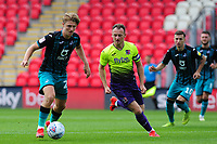 George Byers of Swansea City in action during the pre season friendly match between Exeter City and Swansea City at St James Park in Exeter, England, UK. Saturday, 20 July 2019