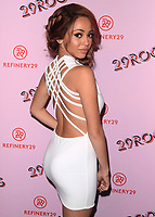 LOS ANGELES- DECEMBER 6:  Vanessa Morgan at the Refinery29 29Rooms Los Angeles: Turn It Into Art Opening Night Party at ROW DTLA on December 6, 2017 in Los Angeles, California. (Photo by Scott Kirkland/PictureGroup)