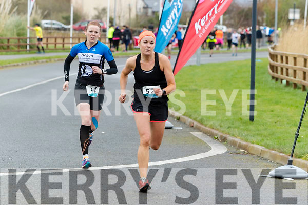 Sinead Stafford  and Kate Brosnan runners in the Tralee International Marathon series in Tralee on Saturday.