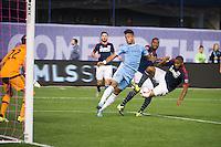 BRONX, NY - Sunday, October 25, 2015: New York City FC loses 1-3 to the New England Revolution at home at Yankee Stadium during the 2015 MLS regular season.