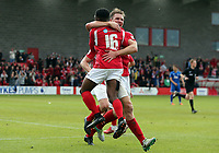 Darren McQueen of Ebbsfleet United is congratulated after scoring the second goal during Ebbsfleet United vs Chelmsford City, Vanarama National League South Play-Off Final Football at The PHB Stadium on 13th May 2017