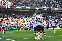 4th January 2020; Mestalla, Valencia, Spain; La Liga Football,Valencia versus Eibar; Maxi Gomez of Valencia CF celebrates with his team mates after scoring the first goal for his team in minute 28' - Editorial Use