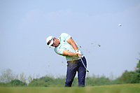 Ryan Fox (NZL) second shot on the 9th fairway during the 2nd round at the WGC HSBC Champions 2018, Sheshan Golf CLub, Shanghai, China. 26/10/2018.<br /> Picture Fran Caffrey / Golffile.ie<br /> <br /> All photo usage must carry mandatory copyright credit (&copy; Golffile | Fran Caffrey)