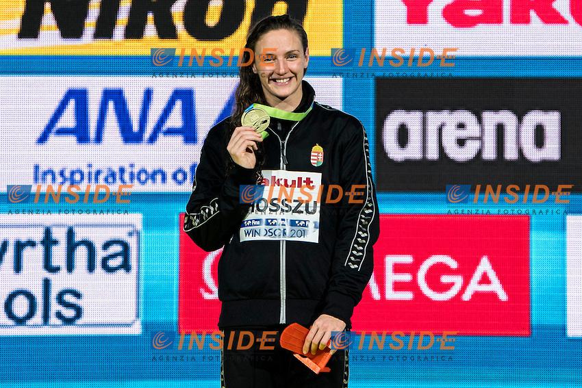 HOSSZU Katinka HUN Gold Medal<br /> Women's 100m Butterfly<br /> 13th Fina World Swimming Championships 25m <br /> Windsor  Dec. 11th, 2016 - Day06 Finals<br /> WFCU Centre - Windsor Ontario Canada CAN <br /> 20161211 WFCU Centre - Windsor Ontario Canada CAN <br /> Photo &copy; Giorgio Scala/Deepbluemedia/Insidefoto