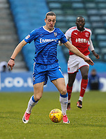 Scorer of 2 goals, Tom Eaves of Gillingham, during the Sky Bet League 1 match between Gillingham and Fleetwood Town at the MEMS Priestfield Stadium, Gillingham, England on 27 January 2018. Photo by David Horn.