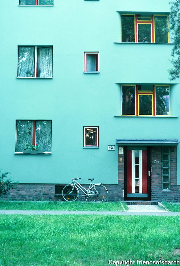 Berlin: Zehlendorf. Onkel Toms Hutte. Public housing designed by Bruno Taut.