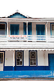 JAMAICA, Port Antonio. A traditional building in the downtown area.